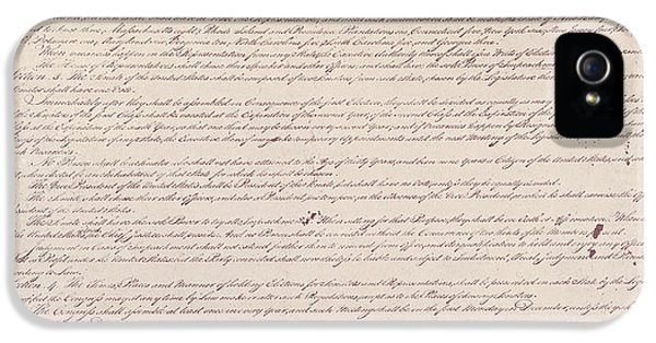 Us Constitution iPhone 5 Cases - Us Constitution iPhone 5 Case by Photo Researchers