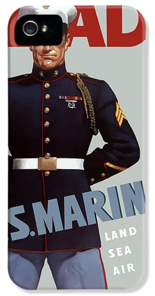 Marine Corps iPhone 5 Cases - US Marines Ready iPhone 5 Case by War Is Hell Store