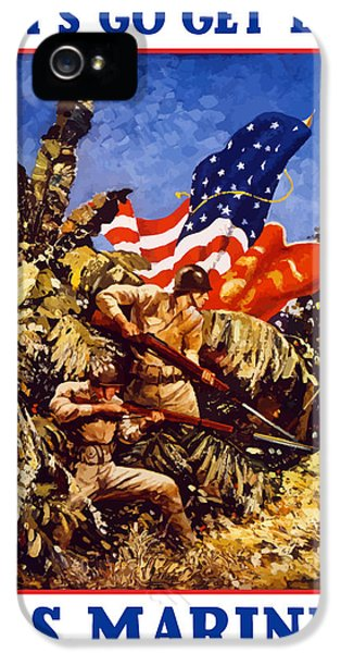 Marine Corps iPhone 5 Cases - US Marines iPhone 5 Case by War Is Hell Store