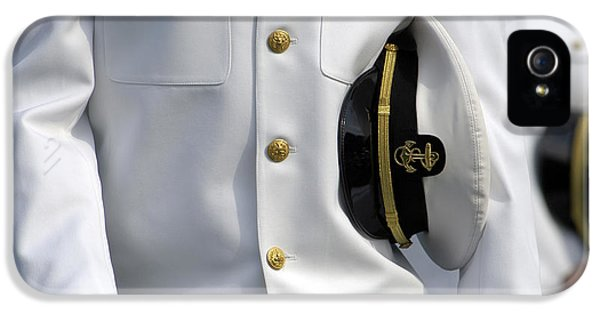 Honor iPhone 5 Cases - U.s. Naval Academy Midshipman In Dress iPhone 5 Case by Stocktrek Images