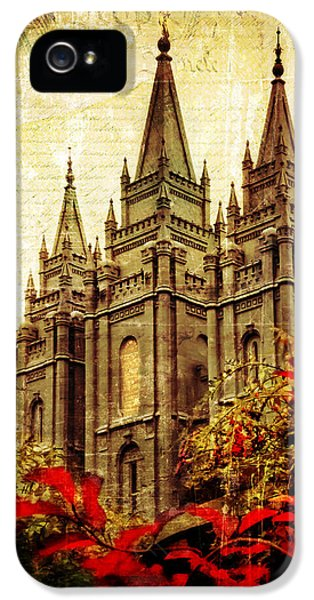 Slc iPhone 5 Cases - Use it Vintage Temple iPhone 5 Case by La Rae  Roberts
