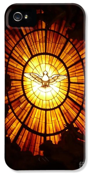 Holy Spirit iPhone 5 Cases - Vatican Window iPhone 5 Case by Carol Groenen