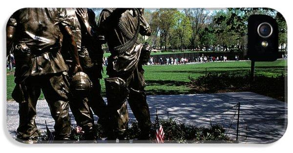 Vietnam War iPhone 5 Cases - Vietnam Veterans Memorial Memorial Day iPhone 5 Case by Thomas R Fletcher