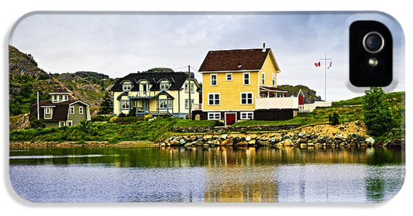 Harbour iPhone 5 Cases - Village in Newfoundland iPhone 5 Case by Elena Elisseeva