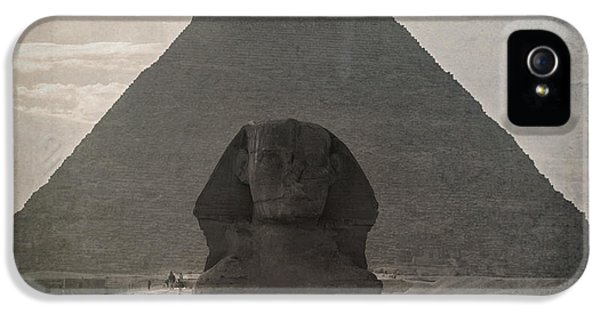 Archeology iPhone 5 Cases - Vintage Sphinx iPhone 5 Case by Jane Rix