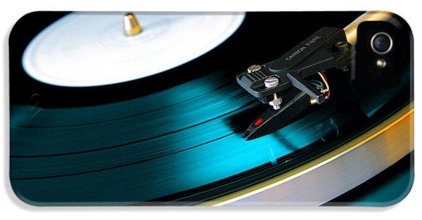 Round iPhone 5 Cases - Vinyl Record iPhone 5 Case by Carlos Caetano