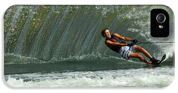 Health Fitness iPhone 5 Cases - Water Skiing Magic of Water 1 iPhone 5 Case by Bob Christopher
