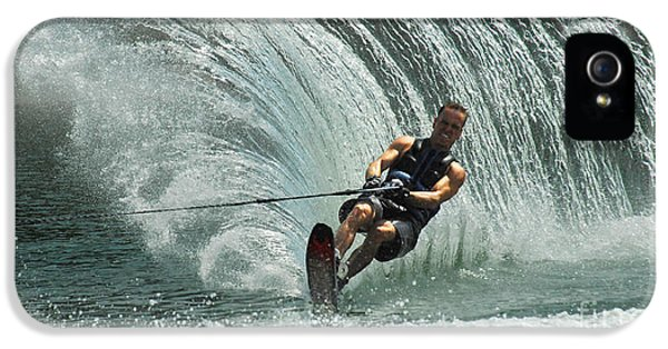 Health Fitness iPhone 5 Cases - Water Skiing Magic of Water 10 iPhone 5 Case by Bob Christopher