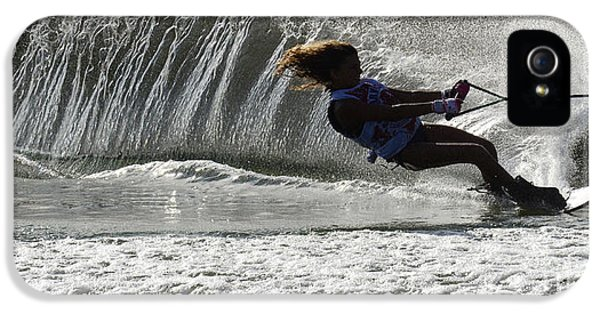 Health Fitness iPhone 5 Cases - Water Skiing Magic of Water 12 iPhone 5 Case by Bob Christopher