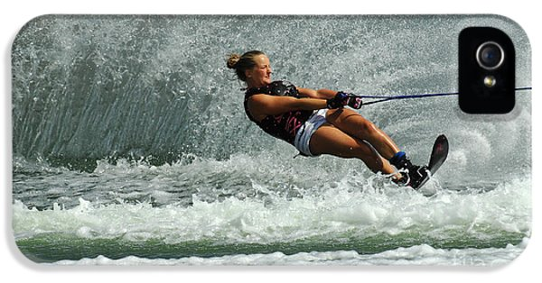 Health Fitness iPhone 5 Cases - Water Skiing Magic Of Water 2 iPhone 5 Case by Bob Christopher