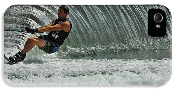 Health Fitness iPhone 5 Cases - Water Skiing Magic of Water 3 iPhone 5 Case by Bob Christopher