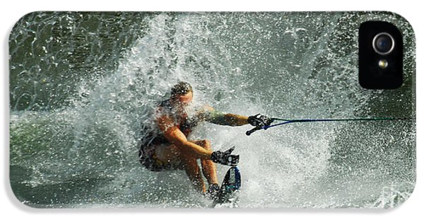 Health Fitness iPhone 5 Cases - Water Skiing Magic of Water 34 iPhone 5 Case by Bob Christopher