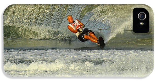 Health Fitness iPhone 5 Cases - Water Skiing Magic of Water 4 iPhone 5 Case by Bob Christopher