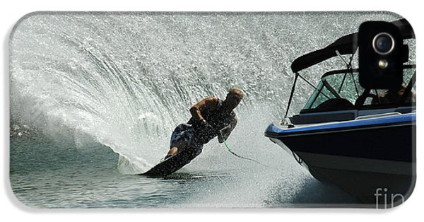 Health Fitness iPhone 5 Cases - Water Skiing Magic of Water 6 iPhone 5 Case by Bob Christopher