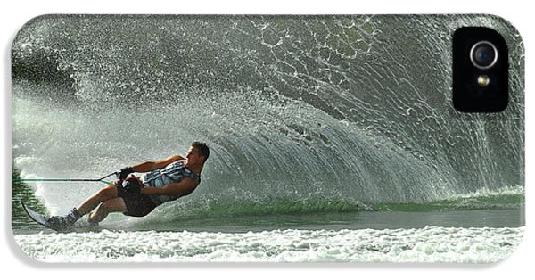 Health Fitness iPhone 5 Cases - Water Skiing Magic of Water 7 iPhone 5 Case by Bob Christopher