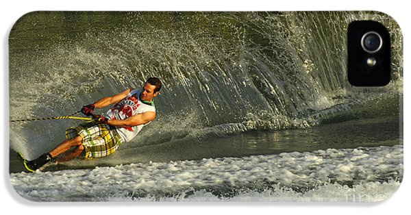 Health Fitness iPhone 5 Cases - Water Skiing Magic of Water 8 iPhone 5 Case by Bob Christopher