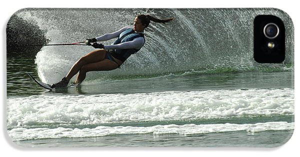 Health Fitness iPhone 5 Cases - Water Skiing Magic of Water 9 iPhone 5 Case by Bob Christopher