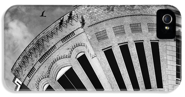 Main Street iPhone 5 Cases - Wee Bryan Texas Detail in Black and White iPhone 5 Case by Nikki Marie Smith