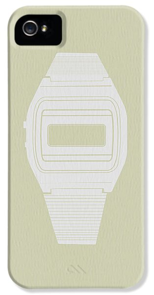 Electronic iPhone 5 Cases - White Electronic Watch iPhone 5 Case by Naxart Studio