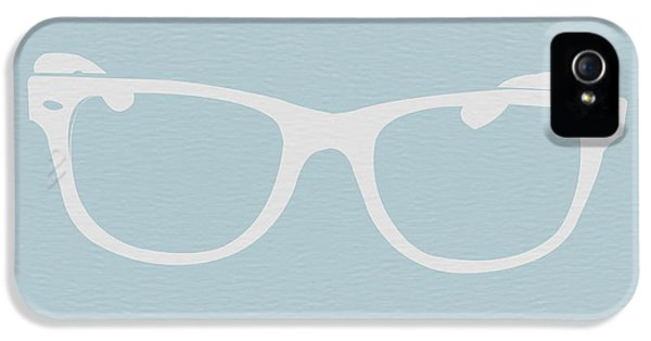 Glass iPhone 5 Cases - White Glasses iPhone 5 Case by Naxart Studio