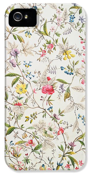 Arts And Crafts Movement iPhone 5 Cases - Wild flowers design for silk material iPhone 5 Case by William Kilburn