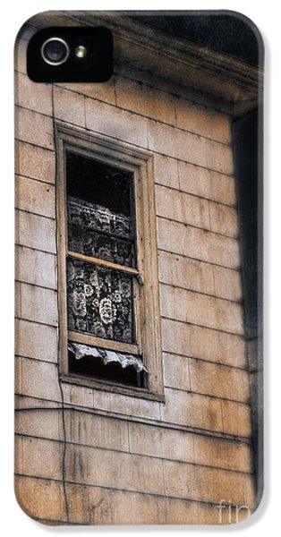 Haunted Houses iPhone 5 Cases - Window in Old House Stormy Sky iPhone 5 Case by Jill Battaglia