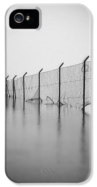Gate iPhone 5 Cases - Wire Mesh Fence iPhone 5 Case by Joana Kruse