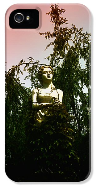 Statue Photographs iPhone 5 Cases - Woman in the Weeds iPhone 5 Case by Bill Cannon