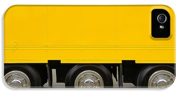 Trailer iPhone 5 Cases - Yellow Truck iPhone 5 Case by Carlos Caetano