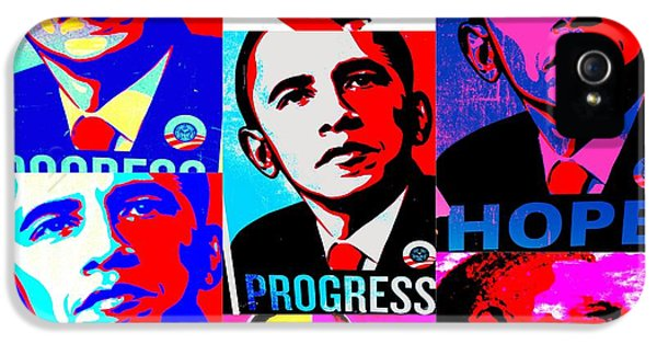 Obama iPhone 5 Cases - Yes We Can  iPhone 5 Case by Funkpix Photo Hunter