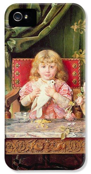 Young Girl With A Dove   IPhone 5 / 5s Case by Ignacio Leon y Escosura