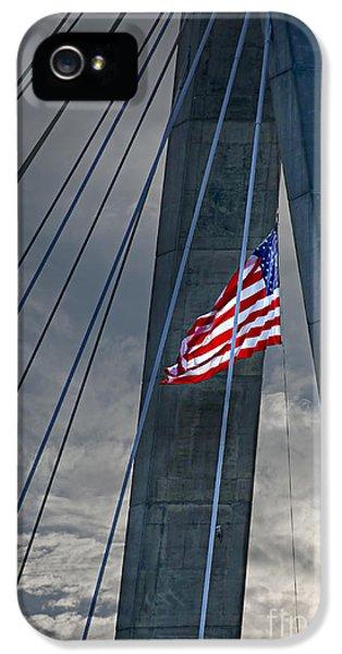Cable iPhone 5 Cases - Zakim bridge Boston iPhone 5 Case by Elena Elisseeva