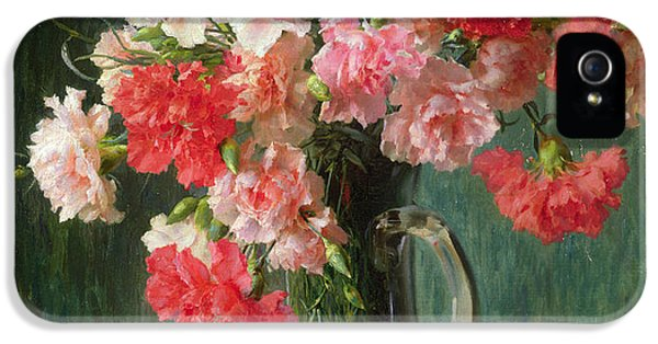 Still Life Of Carnations   IPhone 5 / 5s Case by Emile Vernon