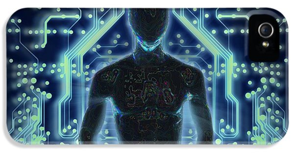 Cyborg iPhone 5 Cases -  The Prophet iPhone 5 Case by Francois Domain