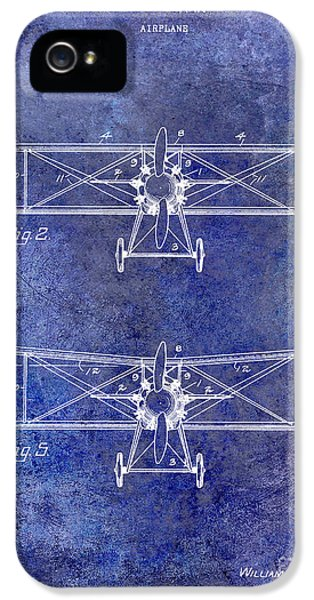 Mcdonnell Douglas iPhone 5 Cases - 1929 Airplane Patent Blue iPhone 5 Case by Jon Neidert