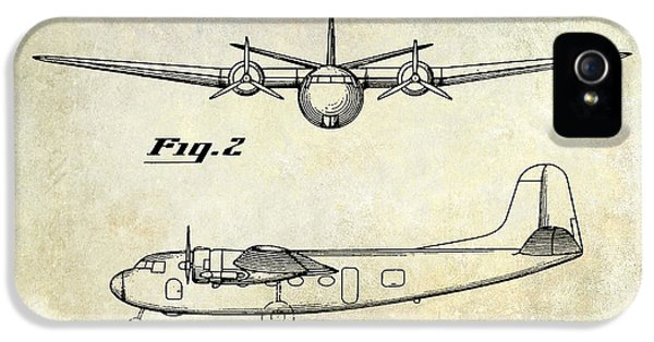 Mcdonnell Douglas iPhone 5 Cases - 1945 Transport Airplane Patent  iPhone 5 Case by Jon Neidert
