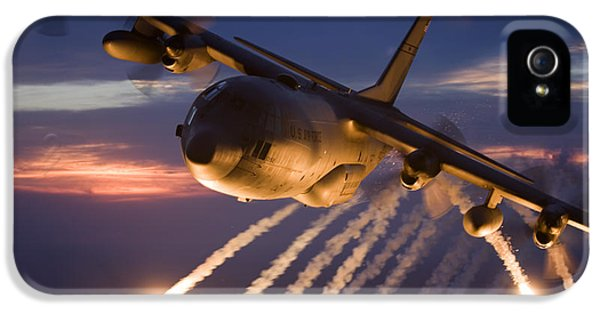 Air Force iPhone 5 Cases - A C-130 Hercules Releases Flares iPhone 5 Case by HIGH-G Productions