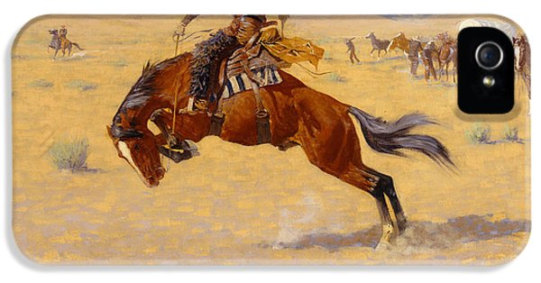 A Cold Morning On The Range IPhone 5 / 5s Case by Frederic Remington
