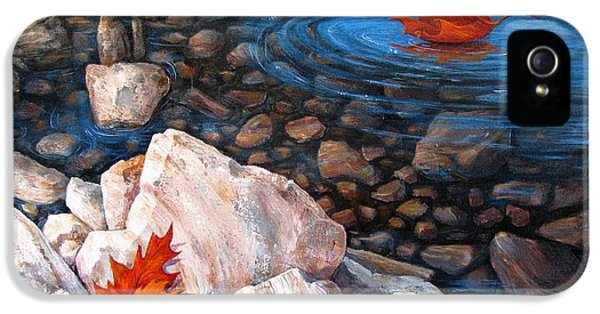 Lake iPhone 5 Cases - A Touch of Fall iPhone 5 Case by Tanja Ware