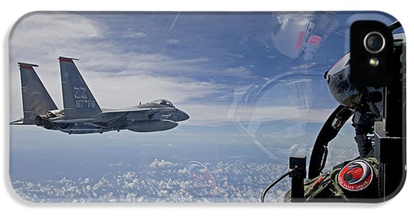 Air Force One iPhone 5 Cases - An F-15 Eagle Pilot Flies In Formation iPhone 5 Case by HIGH-G Productions