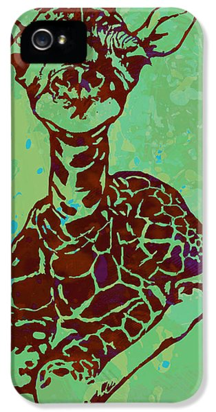 Baby Giraffe - Pop Modern Etching Art Poster IPhone 5 / 5s Case by Kim Wang