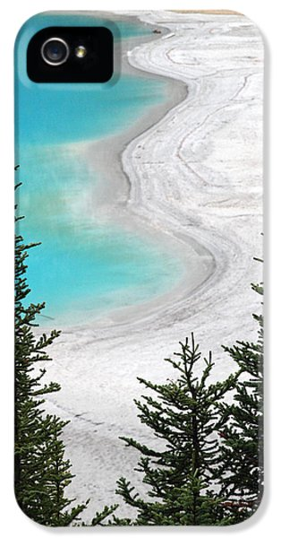 Health Fitness iPhone 5 Cases - Beach at Lake Louise Banff National Park iPhone 5 Case by Pierre Leclerc Photography