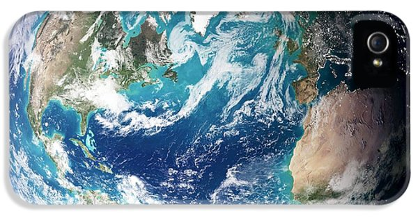 Phytoplankton iPhone 5 Cases - Blue Marble Image Of Earth (2005) iPhone 5 Case by Nasa Earth Observatory