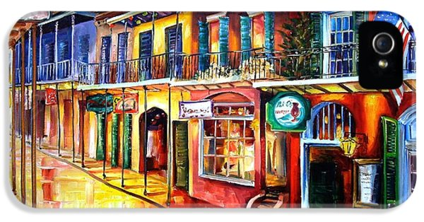 Tourism iPhone 5 Cases - Bourbon Street Red iPhone 5 Case by Diane Millsap