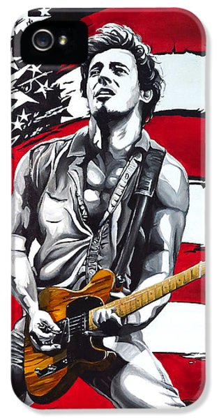 Born To Run iPhone 5 Cases - Bruce Springsteen iPhone 5 Case by Francesca Agostini