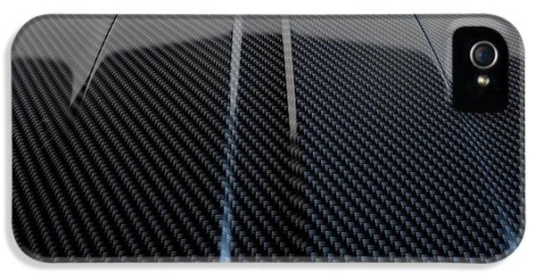 Fibre iPhone 5 Cases - Car Contour Carbon Fibre iPhone 5 Case by Allan Swart