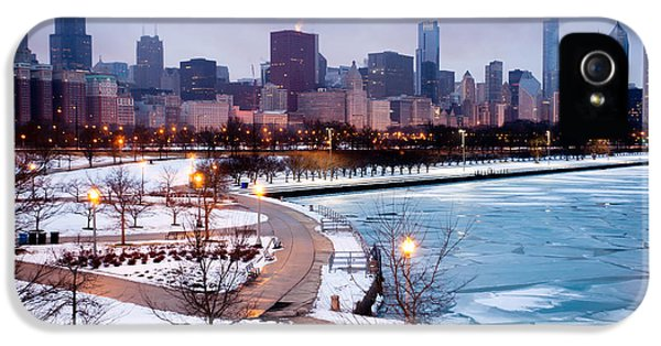 Sears iPhone 5 Cases - Chicago Skyline in Winter iPhone 5 Case by Paul Velgos