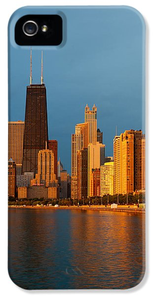 Lake Michigan iPhone 5 Cases - Chicago Skyline iPhone 5 Case by Sebastian Musial