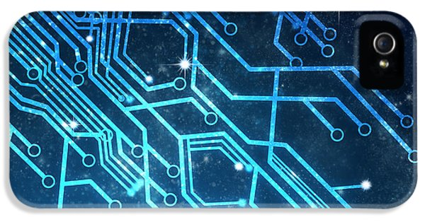 Circuits iPhone 5 Cases - Circuit Board Technology iPhone 5 Case by Setsiri Silapasuwanchai