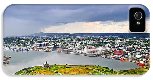Newfoundland iPhone 5 Cases - Cityscape of Saint Johns from Signal Hill iPhone 5 Case by Elena Elisseeva